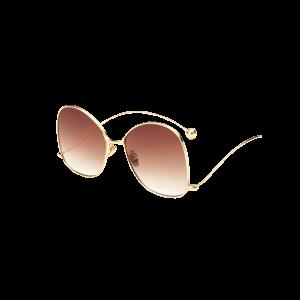 Cool Small Ball Wave Leg Irregular Sunglasses - Golden