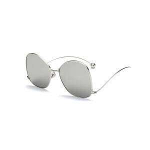 Cool Small Ball Wave Leg Irregular Mirrored Sunglasses