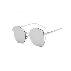 Cool Triangle Embellished Irregular Mirrored Sunglasses