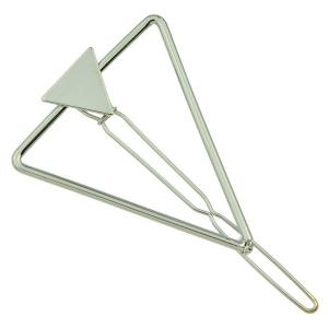 Hollow Alloy Triangle Hairpin