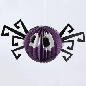 Halloween Party Supply Spider Paper Hanging Lantern Decoration