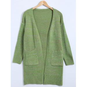 Drop Shoulder Long Cardigan with Pockets