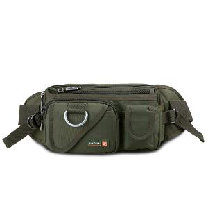 Metal Pockets Dark Color Waist Bag