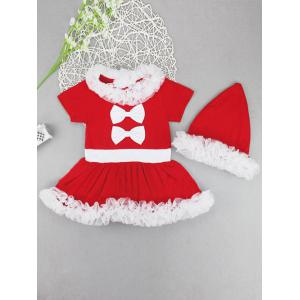 Baby Girls Newborn Costume Outfits Tutu Dress 2PCs - Red - 110