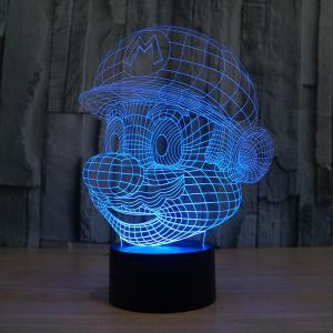 3D Color Changing Visual Touching Ombre LED Night Light -
