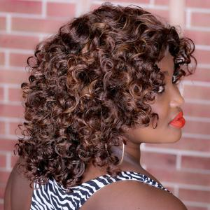 Adiors Long Highlight Curly Synthetic Wig -