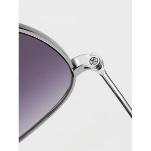 Cool Small Ball Wave Leg Irregular Sunglasses - SILVER