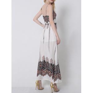 Cami Slit Vintage Printed Maxi Dress -