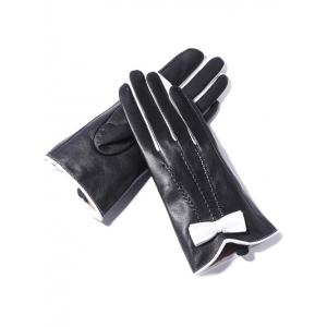 Double-Deck Bowknot Wave Cut Thicken Gloves -
