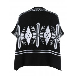 Batwing Sleeve Geometrical Pattern Cardigan -