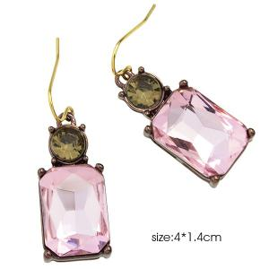 Rhinestone Charming Perfume Bottle Earrings -