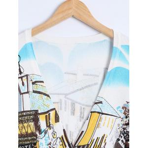 Building Print Knitted Cardigan -