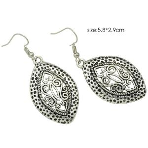 Hollow Burnished Filigree Earrings -