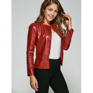 Fitting Zip-Up Biker Jacket -