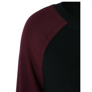 Raglan Sleeve T-Shirt - RED/BLACK L