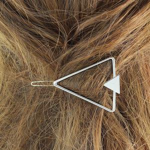 Hollow Alloy Triangle Hairpin -