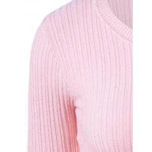 Ribbed Plain Textured Slimming Knitwear -