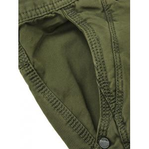 Zippered Mid-Rise Straight Leg Cargo Pants -