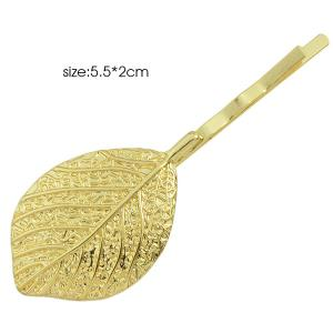 Sculpture Alloy Leafage Hairpin - GOLDEN
