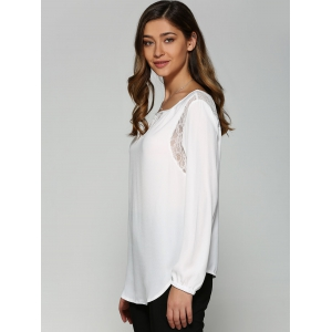 Lace High Low Cutwork Blouse -