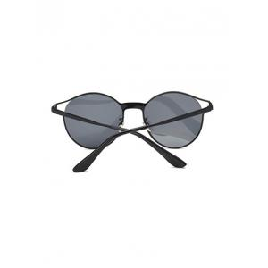 Cool Hollow Out Frame Oval Sunglasses -