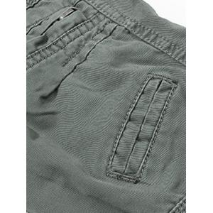 Loose Fitting Mid-Rise Zipper Fly Stitching Cargo Pants -