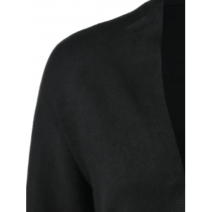 Open-Front Ribbed Cardigan -