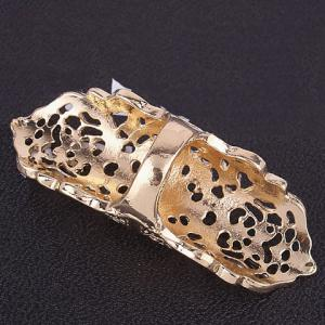 Vintage Bows Hollow Out Full Finger Ring - GOLDEN ONE-SIZE