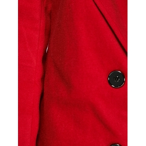 Double-Breasted Woolen Overcoat -