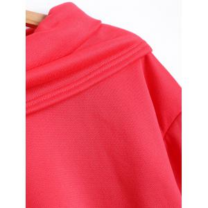 Autumn Funnel Neck High Low T-Shirt -