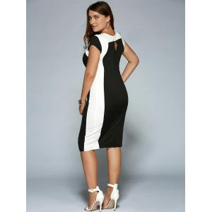Plus Size Keyhole Neck Sheath Dress -