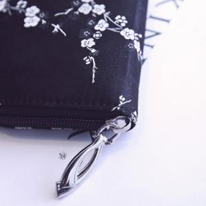 Color Block Plum Blossom Broderie Wallet -