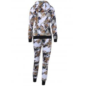 Camouflage Imprimer Hooded Gym Tenues - Jungle Camouflage L