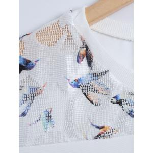 Bird Grid T-Shirt and Textured Shorts -