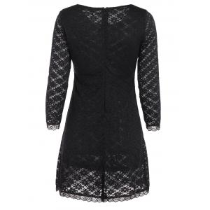 Long Sleeve  Slimming Lace Dress -