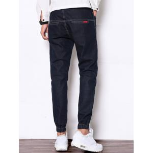 Zip Fly Suture Design Jean Joggers -