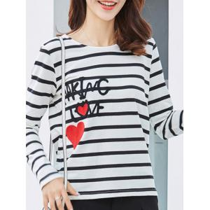 Graphic Patched Striped T-Shirt -