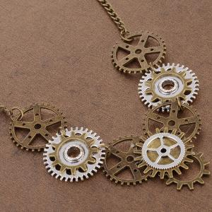 Circle Gear Necklace -