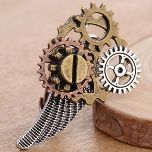 Circle Gear Wing Ring - BRONZE COLORED ONE-SIZE