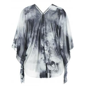 Single Breasted Ink Painting Blouse -
