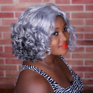 Adiors Highlight Medium Side Parting Curly Synthetic Wig - COLORMIX