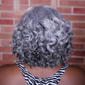 Adiors Highlight Medium Side Parting Curly Synthetic Wig -