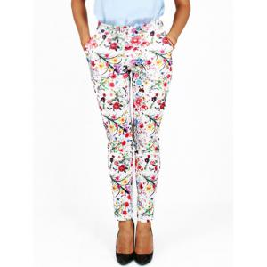 Tiny Floral Printed Pencil Pants -