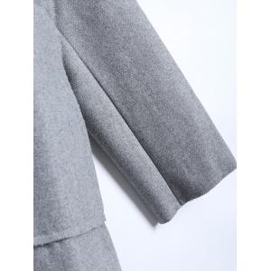 Felt Lapel Coat with Pockets -