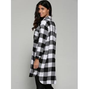 Tartan Pattern Long Shirt -