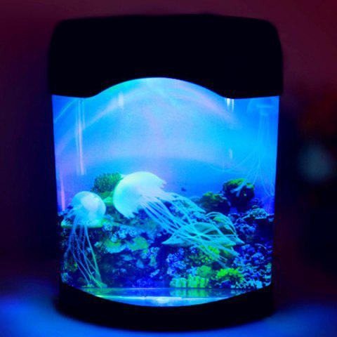 Fashion LED MultiColor Sea World Swimming Jellyfish Lamp Night Light - COLORMIX  Mobile