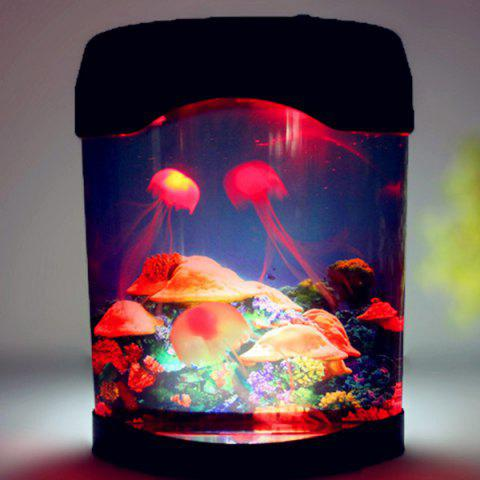 Shop LED MultiColor Sea World Swimming Jellyfish Lamp Night Light - COLORMIX  Mobile