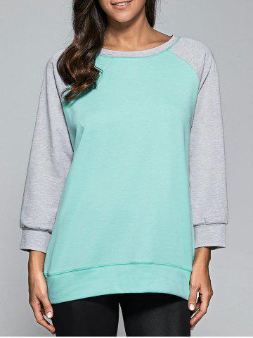 Fashion Raglan Sleeve Topstitch Sweatshirt