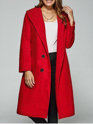 Trendy Double-Breasted Woolen Overcoat