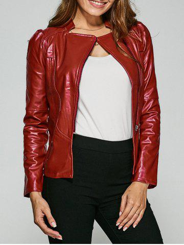 Trendy Fitting Zip-Up Biker Jacket